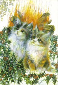 Yule cats, fire cats!